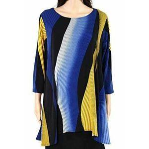 Alfani Blouse Plus 3X Wavy Print Tunic NWT $70.50